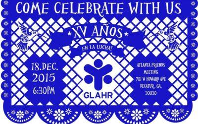GLAHR XV Year Anniversary Sponsor