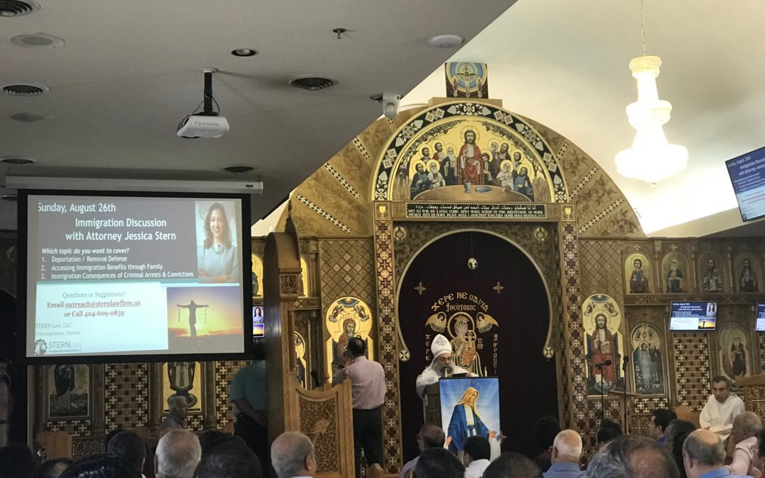 Immigration Workshop at St. Mary Coptic Orthodox Church